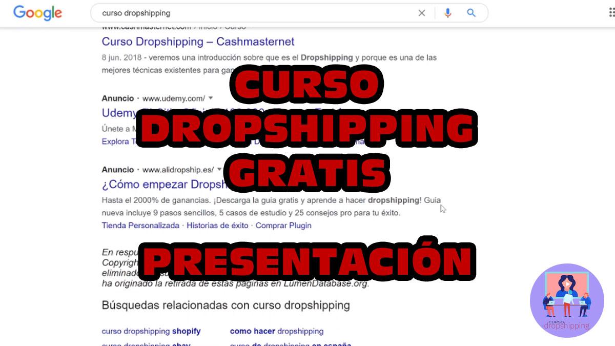 Curso dropshipping gratis – Presentación